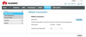 How to configure HUAWEI 4G modems